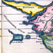 Atlantis: Map, 1831 Poster