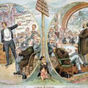 Business Cartoon, 1904 Poster