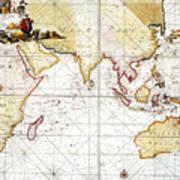 Indian Ocean: Map, 1705 Poster