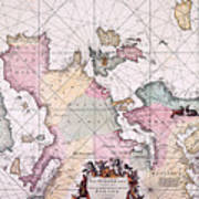 Map: European Coasts, 1715 Poster