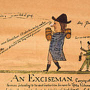 Cartoon: Whiskey Tax, 1794 Poster