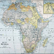 Map: Africa, 19th Century Poster
