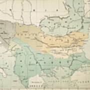 Balkan Map, 1885 Poster