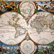 World Map, 17th Century Poster