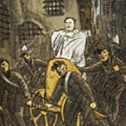 Benito Mussolini Cartoon Poster