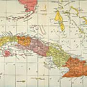 Map: Cuba, 1900 Poster