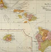 Map: Hawaii, 1905 Poster