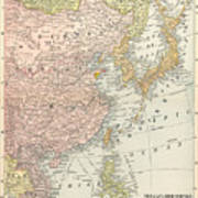 Map: East Asia, 1907 Poster