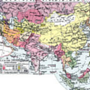 Map: Europe In Asia Poster