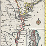 Map: North America, C1700 Poster