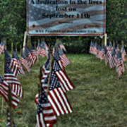 010 Flags For Fallen Soldiers Of Sep 11 Poster
