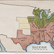 United States Map, 1854 Poster