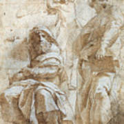 Raphael: Study, C1510 Poster