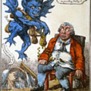 Cartoon: John Bull, C1814 Poster