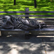 02 Homeless Jesus By Timothy P Schmalz Poster