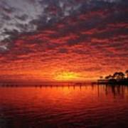0205 Awesome Sunset Colors On Santa Rosa Sound Poster