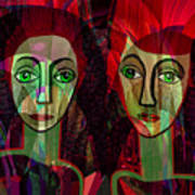 039   Two Pensive Women A Poster