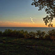 0874- Lake Michigan Sunset Poster