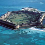 Fort Jefferson In The Gulf Of Mexico Poster