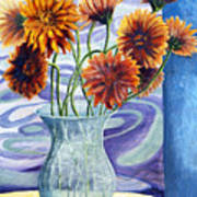 01305 Orange African Daisies Poster