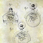 1893 Pocket Watch Patent Poster