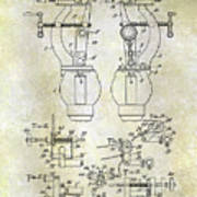 1902 Watchmakers Lathes Patent Poster