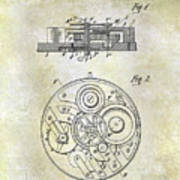1908 Pocket Watch Patent  Poster