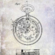 1913 Pocket Watch Patent Poster