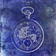 1916 Pocket Watch Patent Blueprint Poster