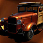 1929 Ford Model A Woody Poster
