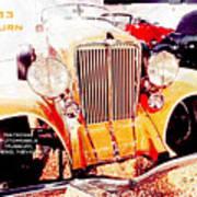 1933 Auburn Classic Automobile Poster
