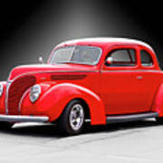 1938 Ford Five-window Coupe II Poster