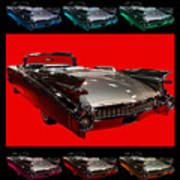 1959 Cadillac Eldorado Convertible . Wing Angle Artwork Poster