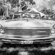 1959 Lincoln Continental Town Car Mk Iv Painted Bw Poster