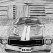 1968 Amc Amx Javelin Muscle Car Art Print Poster