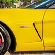 2013 Chevrolet Corvette Zo6 Painted Bw  Poster