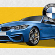 2016  B M W  M 3  Sedan With 3 D Badge  Poster