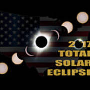 2017 Total Solar Eclipse Across America Poster