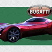 2025 Bugatti Aerolithe Concept With 3 D Badge  Poster