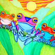 3 Little Frogs Poster