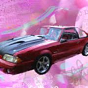 93 Mustang Poster