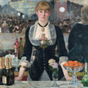 Edouard Manet - A Bar At The Folies-bergere Poster
