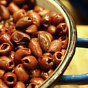 A Bowl Of Black Olives  Poster