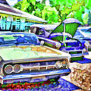 A Line Of Classic Antique Cars 3 Poster
