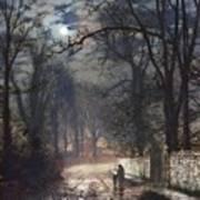 A Moonlit Lane Poster