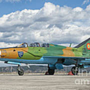 A Romanian Air Force Mig-21b Airplane Poster