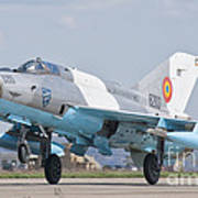 A Romanian Air Force Mig-21c Taking Poster