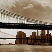 A Tale Of Two Bridges Poster by Joann Vitali