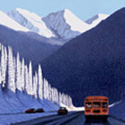 A Winter Drive In British Columbia Poster