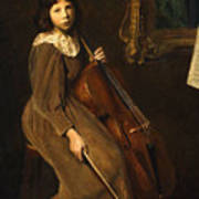 A Young Violoncellist Poster